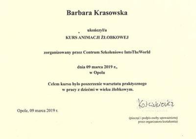 certyfikat animacja żłobkowa str1