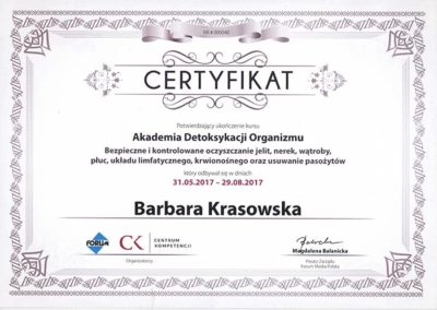 certyfikat ziołolecznictwo