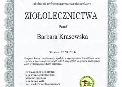 dyplom ziołolecznictwo